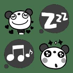 モノクロ★ふんわかパンダ絵文字