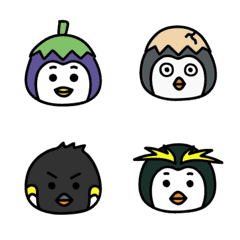 Eggplant penguin Emoji 2