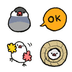 おもち文鳥絵文字 2
