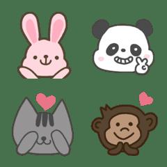 誰でも使えるシンプルな動物絵文字
