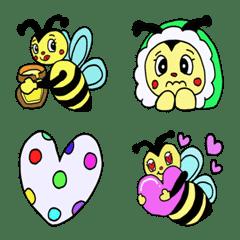 キュートでポップなハチの絵文字❤️