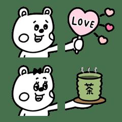 ラクガキ調☆くまカップル【繋がる絵文字】