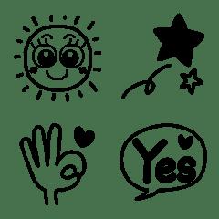 大人❤おしゃゆる可愛いシンプル単色絵文字