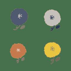 絶妙くすみカラーのふわふわお花