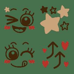 大人おしゃガーリー♥️可愛いデカ目絵文字