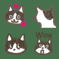 大人の絵文字 ハチワレ猫のおタネ