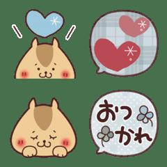 癒し系☆リスくんの絵文字 2