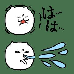 花粉症がつらい猫さんの絵文字。