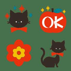 レトロな黒猫ちゃん絵文字