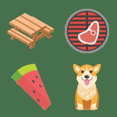 屋外バーベキューとピクニックの絵文字