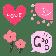 ピンク色の絵文字