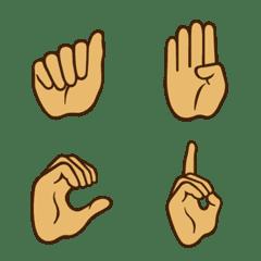 アメリカ式アルファベットの指文字