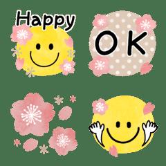 桜ピンク♡スマイル絵文字