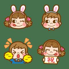 ハッピー満開☆春のペコちゃん絵文字♪