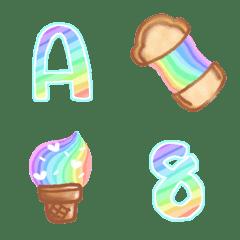 Cutie emoji : ABC rainbow cute