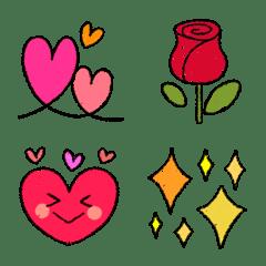 可愛い♥️大人可愛いハートクレヨン絵文字
