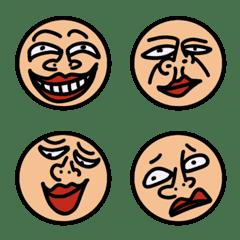 変な顔絵文字シリーズ part1