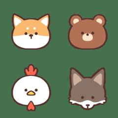 シンプルな動物絵文字