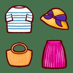 洋服の絵文字(春、夏)