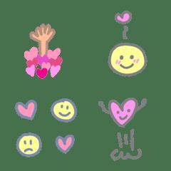 いろんな愛の表現の可愛い絵文字 mix!!