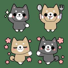 しばいぬっ!絵文字(黒柴&赤柴)