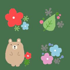 北欧風の絵文字☆お花とにこちゃん