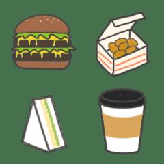 カフェ・ファーストフード店の絵文字