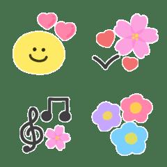 春のスマイル水彩絵文字(1)