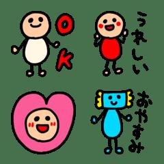 riekimのカラフル棒人間絵文字