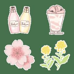 春カフェ絵文字