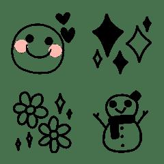 大人可愛い❤シンプル単色絵文字