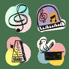 音楽記号と楽器と小物の絵文字