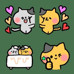 双子猫のすず♡らん~絵文字~