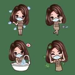 Thai government officials Covid 19 emoji
