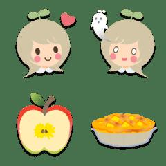 ノノとりんごとアップルパイの絵文字