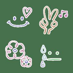 シンプル♡手描き顔文字