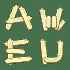 金地金 (A-Z) 絵文字 金の延べ棒
