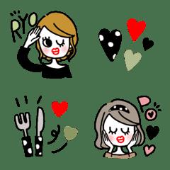 オシャレ女子 絵文字