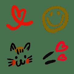 使える使えるシンプル絵文字