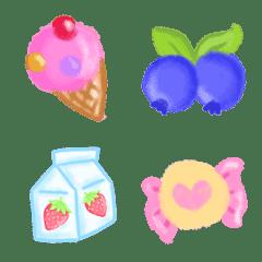 Cutie emoji : kawaii sweety crayon