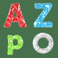 アルファベット及び絵文字-七色の宝石