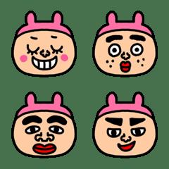 riekimのうさぎの被り物顔絵文字