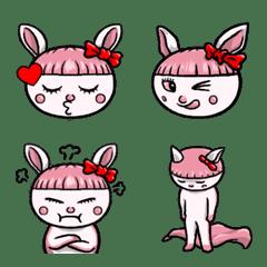 ぱっつん兎のモモチ 絵文字