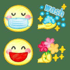 水彩色えんぴつ☆スマイル編 絵文字