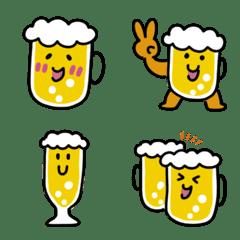 ほほえむビールの絵文字