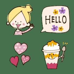 おしゃかわガール♡PINK♡絵文字