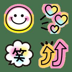 カラフル♪ネオン♡毎日使える絵文字