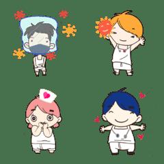 The gang SUSA vs Covid Emoji