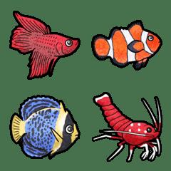 [ 熱帯魚 ] みんなの絵文字 基本セット
