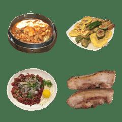 韓国料理絵文字 実写版